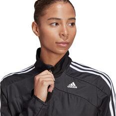 adidas Womens Marathon 3-Stripes Jacket, Black, rebel_hi-res