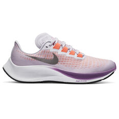 Nike Air Zoom Pegasus 37 Kids Running Shoes Purple/Grey US 1, Purple/Grey, rebel_hi-res