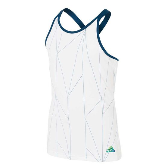 adidas Girls Tennis Club Tank, White / Black, rebel_hi-res