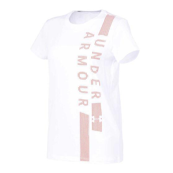Under Armour Womens Classic Crew Tee, White, rebel_hi-res