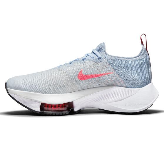 Nike Air Zoom Tempo Next% Womens Running Shoes, Blue/Crimson, rebel_hi-res