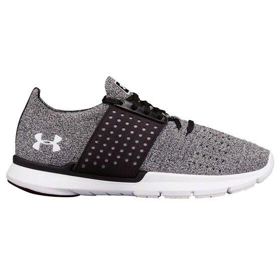 Under Armour Speedform Slingwrap Womens Running Shoes, Grey / Black, rebel_hi-res