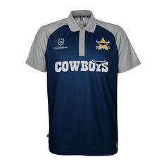 North Queensland Cowboys 2021 Mens Polo Navy S, Navy, rebel_hi-res