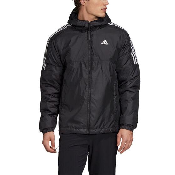 adidas Mens Essentials Insulated Hooded Jacket, Black, rebel_hi-res