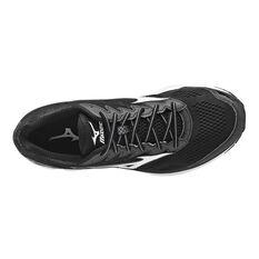 Mizuno Wave Rider 20 Mens Running Shoes Black / White US 8, Black / White, rebel_hi-res