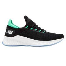New Balance Fresh Foam Lazr v2 Mens Running Shoes Black / Green US 7, Black / Green, rebel_hi-res