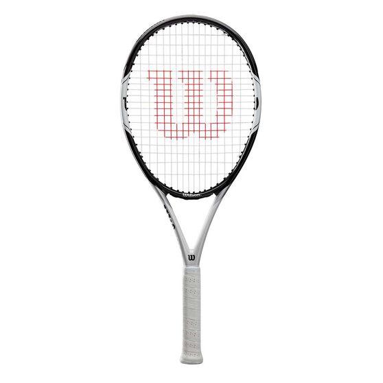 Wilson Federer Pro 105 Tennis Racquet Black / White 4 3/8 in, Black / White, rebel_hi-res