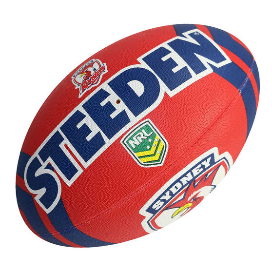 Steeden NRL Sydney Roosters Supporter Rugby League Ball, , rebel_hi-res