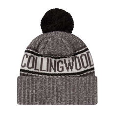 Collingwood Magpies New Era 6 Dart Cuff Beanie, , rebel_hi-res