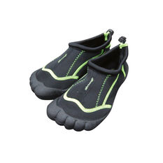 Seven Mile Kids Aqua Reef Shoe Black / Green UK 10, Black / Green, rebel_hi-res