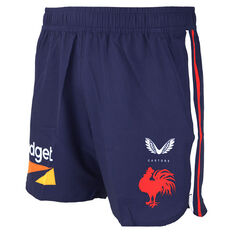 Sydney Roosters 2021 Mens Training Shorts Navy S, Navy, rebel_hi-res