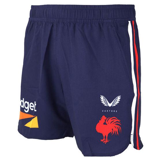 Sydney Roosters 2021 Mens Training Shorts, Navy, rebel_hi-res
