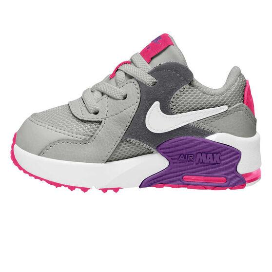 Nike Air Max Excee Toddlers Shoes, Grey / Purple, rebel_hi-res