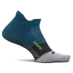 Feetures Elite Cushion No Show Tab Socks Teal M, Teal, rebel_hi-res