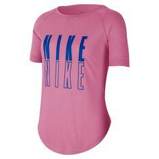 Nike Girls Trophy Graphic Tee Pink / Blue XS, Pink / Blue, rebel_hi-res