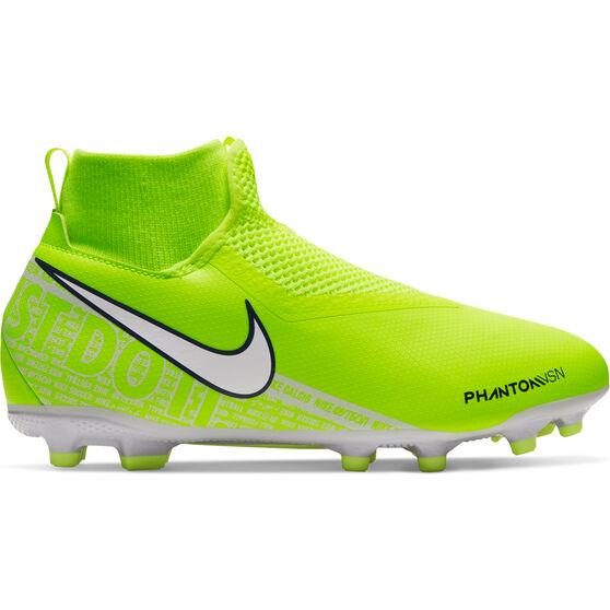 Nike Phantom Vision Academy Dynamic Fit Kids Football Boots Green / White US 1, Green / White, rebel_hi-res