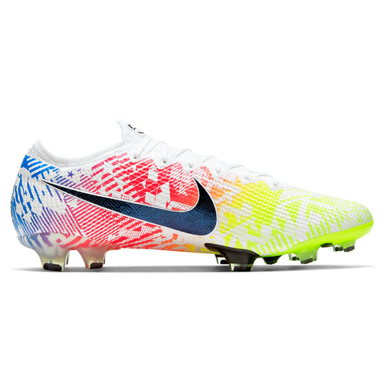 Nike Mercurial Vapor XIII Elite Neymar Jr Football Boots, White/Blue, rebel_hi-res