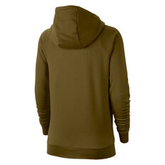 Nike Womens Sportswear Essentials Full Zip Hoodie Olive XS, Olive, rebel_hi-res