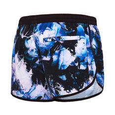 Speedo Womens ECO Virtual Bloom Swim Shorts Purple 8, Purple, rebel_hi-res