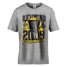 Richmond Tigers Premiers 2019 Kids Tee Grey 8, Grey, rebel_hi-res