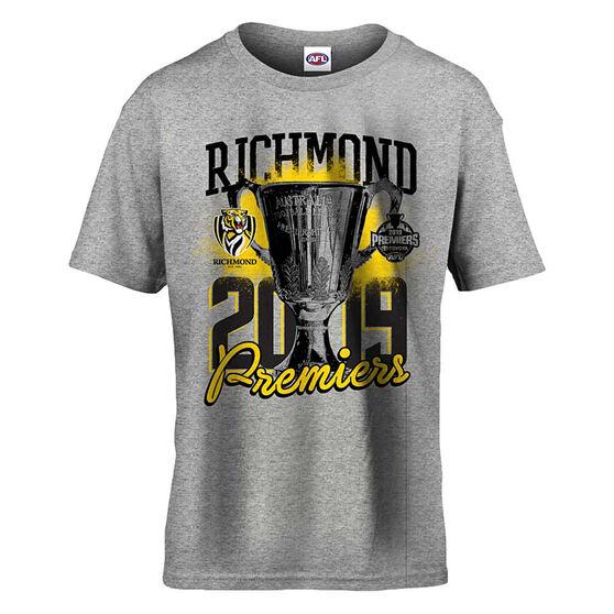 Richmond Tigers Premiers 2019 Kids Tee, Grey, rebel_hi-res
