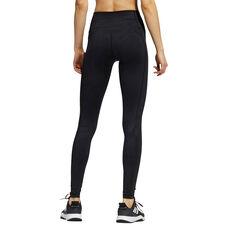 adidas Womens Believe This Primegreen Camo Long Tights, Black, rebel_hi-res