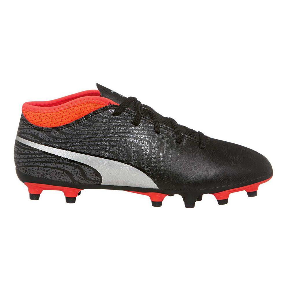 988e0690ea Puma One 18.4 FG Kids Soccer Boots Black / Silver US 4 Junior