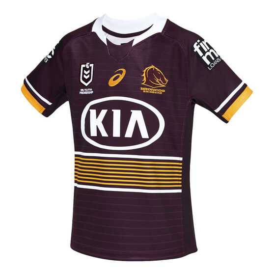 Brisbane Broncos 2021 Kids Home Jersey, Maroon, rebel_hi-res