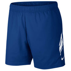 Nike Mens Dri FIT 7in Shorts Blue S, Blue, rebel_hi-res
