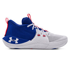 Under Armour Embiid 1 Mens Basketball Shoes White US 7, White, rebel_hi-res