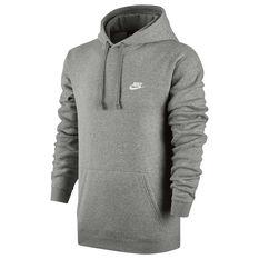 Nike Mens Sportswear Club Hoodie Grey S, Grey, rebel_hi-res