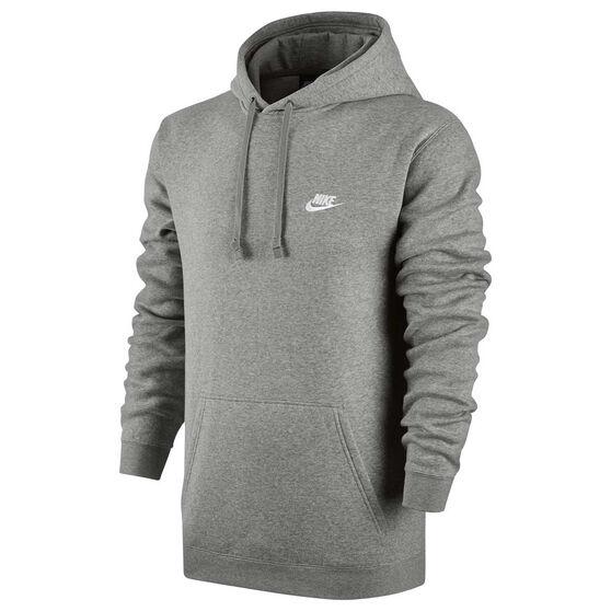 buy popular 7d3f1 1cb2a Nike Mens Sportswear Club Hoodie Grey S