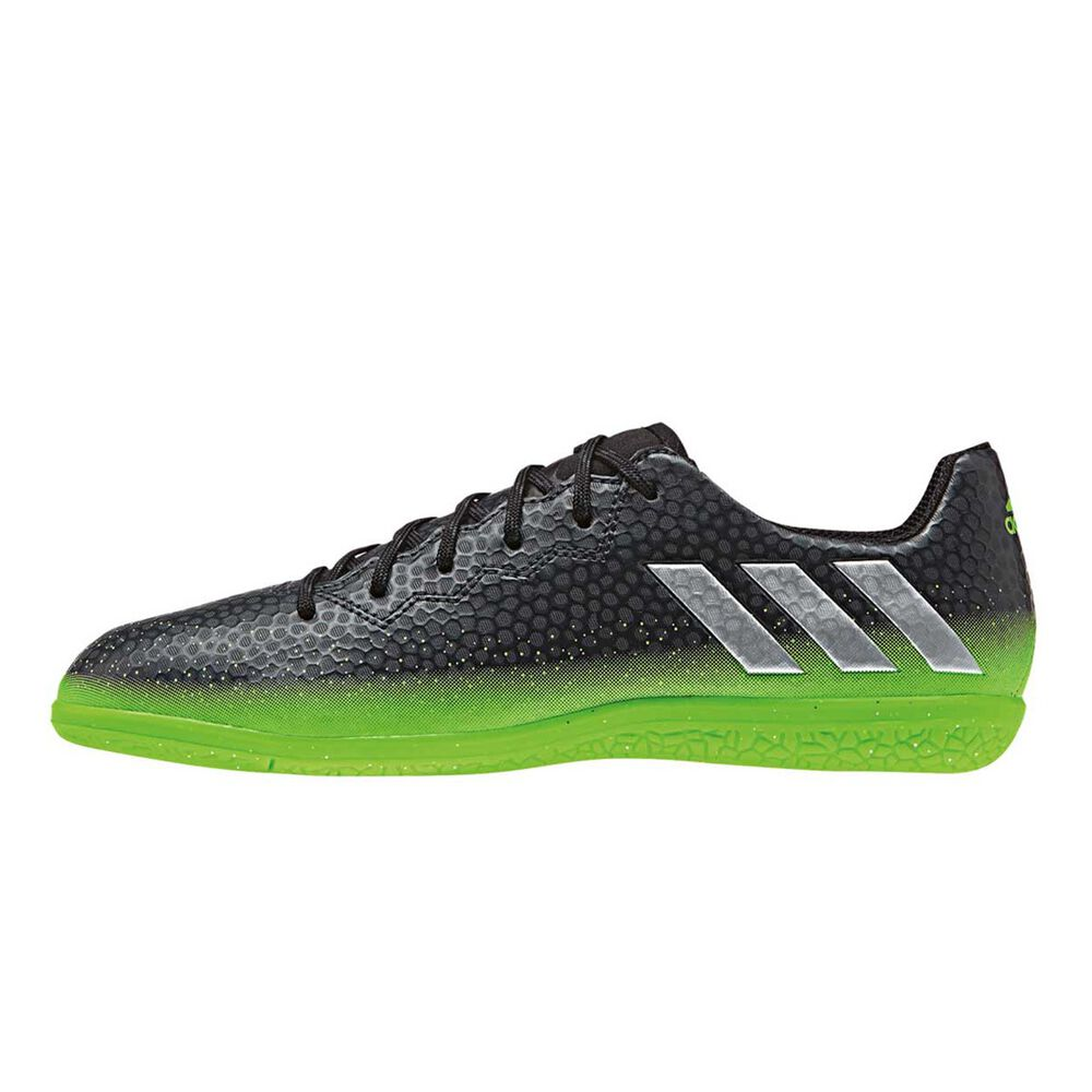 detailed look fd7e8 e5ed6 adidas Messi 16.3 Junior Indoor Football Boots Black   green US 12, ,  rebel hi-