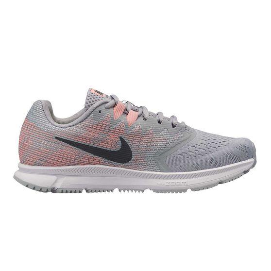 5f7ef5b5c447 Nike Zoom Span 2 Womens Running Shoes Grey   Coral US 7