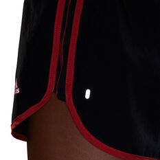 "adidas Womens Marathon 20 4"" Running Shorts, Black, rebel_hi-res"