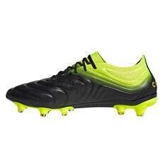 adidas Copa 19.1 Mens Football Boots Black / Yellow US 7, Black / Yellow, rebel_hi-res