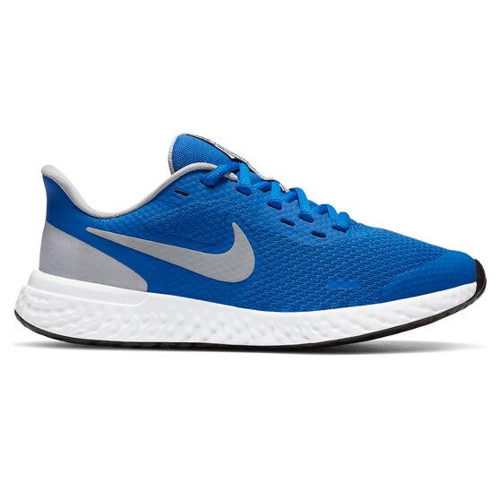 Nike Revolution 5 Kids Running Shoes, Blue/Grey, rebel_hi-res