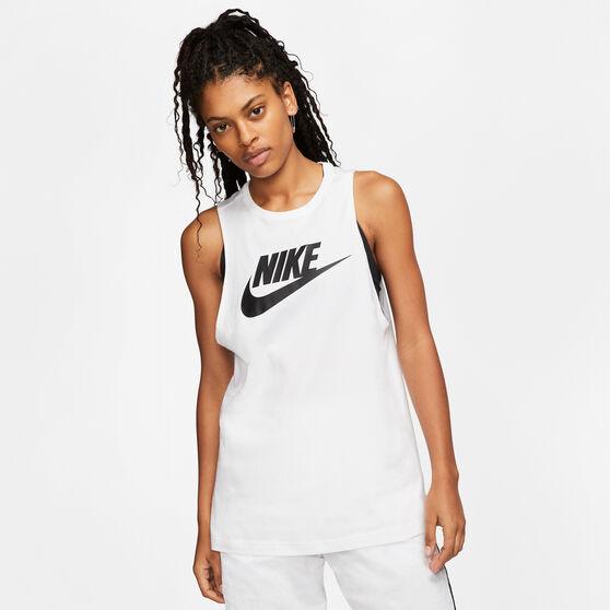 Nike Womens Sportswear Muscle Tank White XS, White, rebel_hi-res