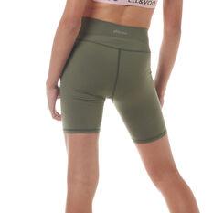 Ell & Voo Girls Kailee 7in Shorts Olive 8, Olive, rebel_hi-res