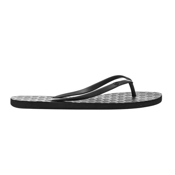 Roxy Baracoa Womens Thongs Black US 6, Black, rebel_hi-res