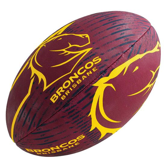 Steeden NRL Brisbane Broncos 11in Supporter Rugby League Ball, , rebel_hi-res