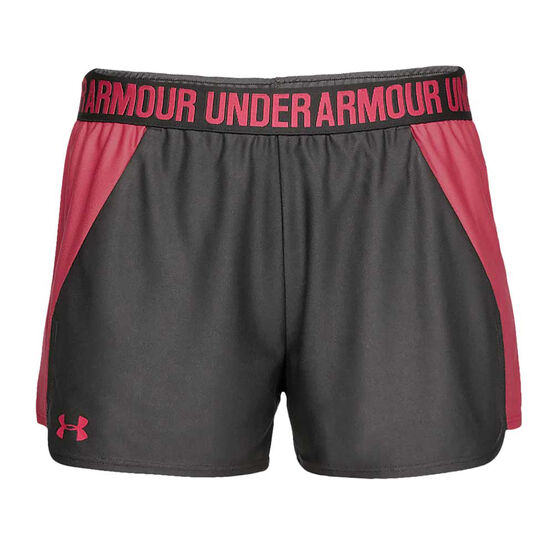 Under Armour Womens Play Up Shorts, Grey, rebel_hi-res