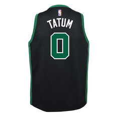 Nike Boston Celtics Jayson Tatum 2019/20 Youth Statement Edition Swingman Black S, Black, rebel_hi-res