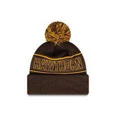 Hawthorn Hawks New Era Supporter Beanie Brown/Yellow OSFA, , rebel_hi-res
