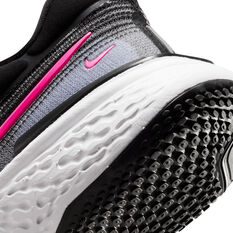 Nike ZoomX Invincible Run Flyknit Womens Running Shoes, Black/Pink, rebel_hi-res