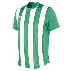 Umbro Mens Striped Jersey, Green / White, rebel_hi-res