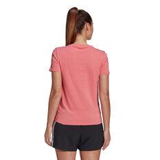 adidas Womens Essentials 3-Stripes Tee, Orange, rebel_hi-res