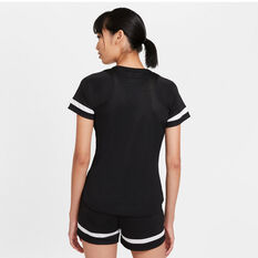 Nike Womens Dri-FIT Academy Soccer Tee Black XS, Black, rebel_hi-res