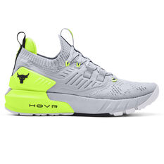 Under Armour Project Rock 3 Womens Training Shoes, Grey/Yellow, rebel_hi-res