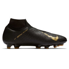 Nike Phantom Vision Elite Dynamic Fit Mens Football Boots Black / Gold US Mens 6.5 / Womens 8, Black / Gold, rebel_hi-res